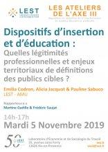 Les ateliers de l'Axe 3 : Emilia Codron, Alicia Jacquot & Pauline Sabuco, le 5 novembre